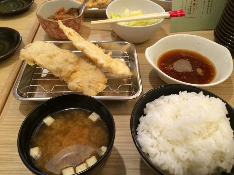 イオン岡山『博多天ぷらたかお』明太子と浅漬け食べ放題天ぷら定食ランチ!