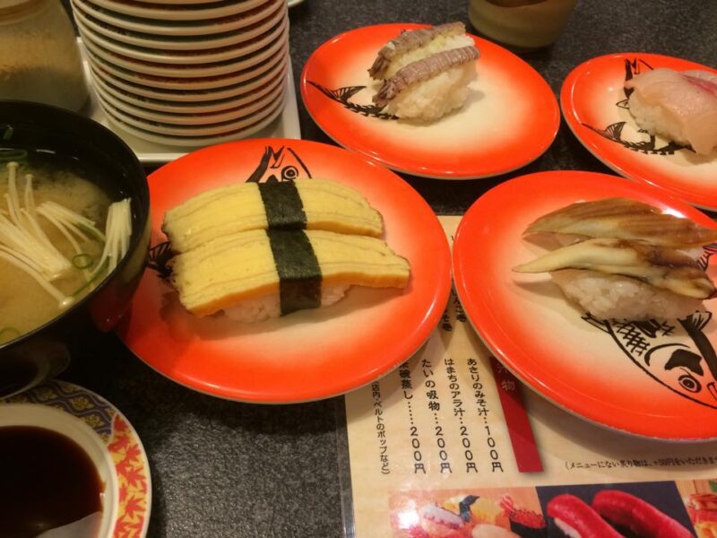 岡山総社『海賊とっと』100円回転寿司『シエルブルー』チーズケーキ!