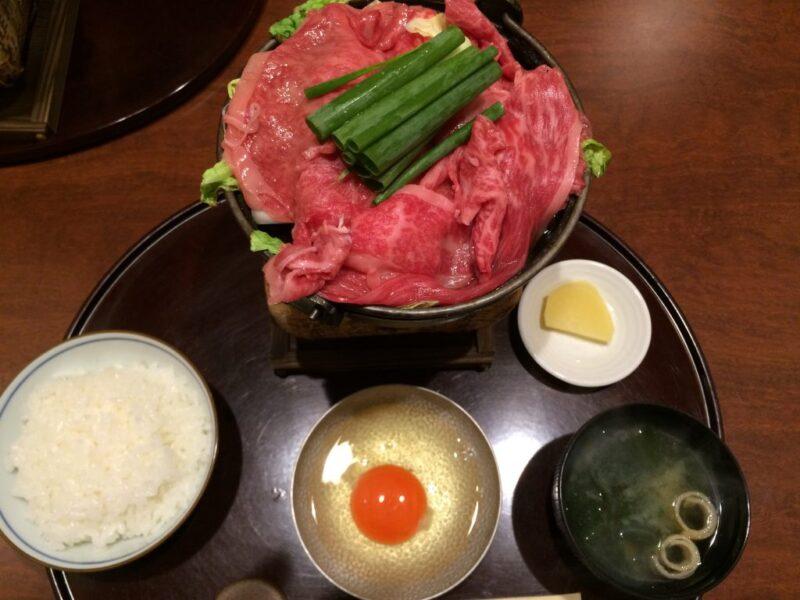 大阪『北新地はな柳』限定15食特選国産黒毛和牛のすき焼きランチ!⑤