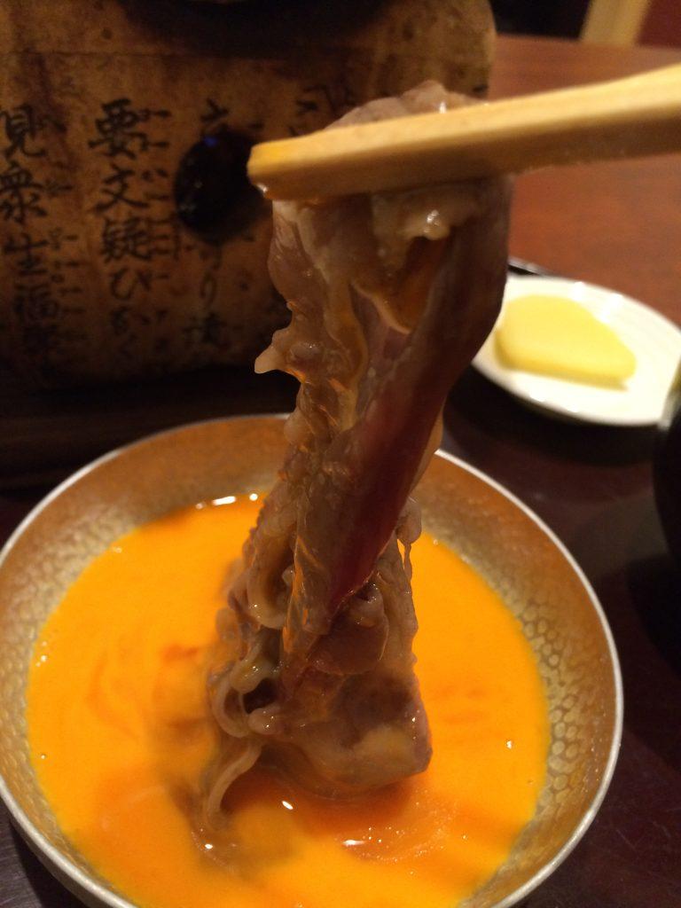 大阪『北新地はな柳』限定15食特選国産黒毛和牛のすき焼きランチ!⑥