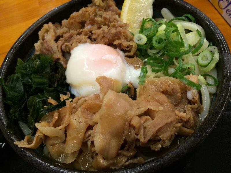 香川丸亀『麺処綿谷』超大盛スペシャル肉ぶっかけうどん②