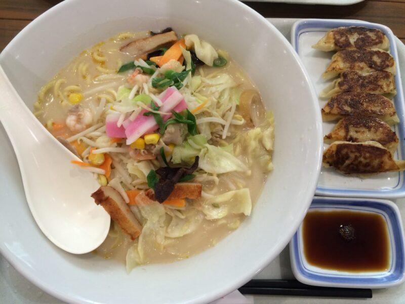 アリオ倉敷『リンガーハット』長崎ちゃんぽん麺大盛りと餃子セットランチ!