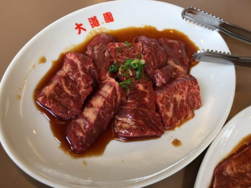 倉敷宮前老舗焼肉店『大道園』焼肉ランチでツラミハラミ定食とご飯大盛り!