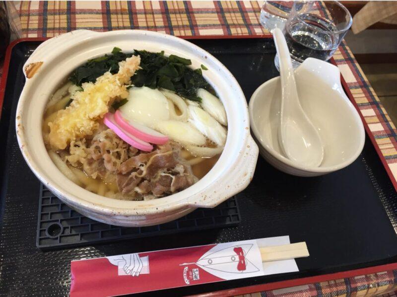 倉敷西中新田『うどん実の和』鶏のから揚げと海老入り鍋焼きうどん!