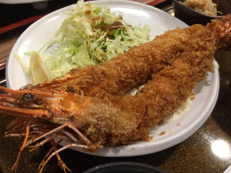 大阪なんばCITY『佐海たちばな』特大有頭エビフライ定食とコロッケランチ!
