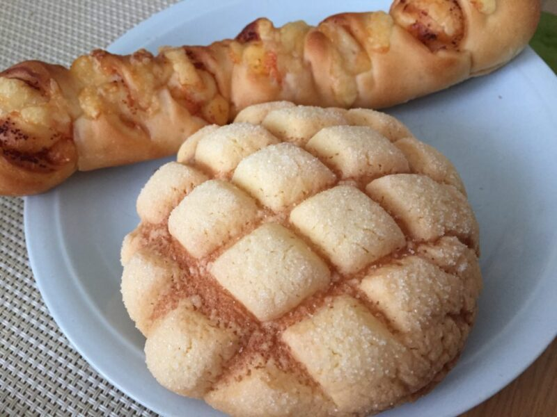 倉敷東富井『リエゾンp.m.』国産小麦100%のメロンパンと明太チーズ!