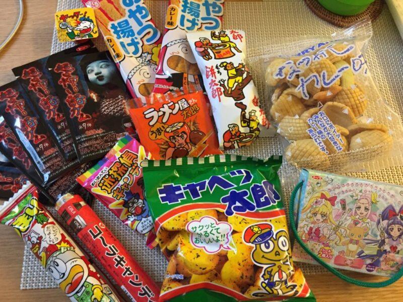 倉敷の昔ながらの駄菓子屋『だがしや小町』大好物うまい棒にキャベツ太郎!