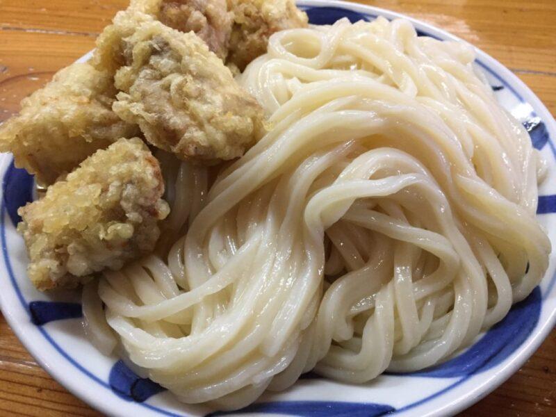 香川高松の大行列さぬきうどん『はりや』一番旨い鶏のかしわざるうどん!