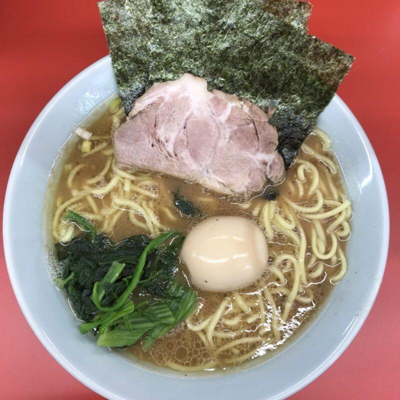 岡山早島『成瀬家』横浜家系ラーメンは海苔とチャーシューとほうれん草!