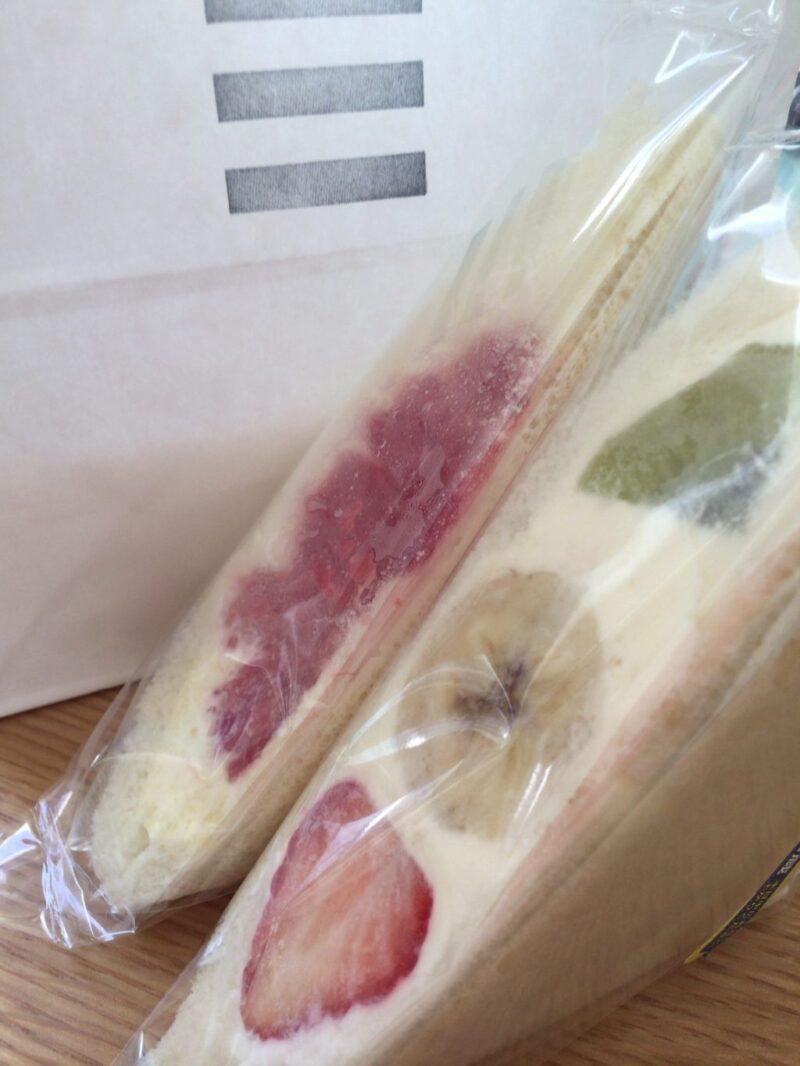 倉敷駅前『フルーツサンドもとや』生クリームたっぷりサンドイッチ!
