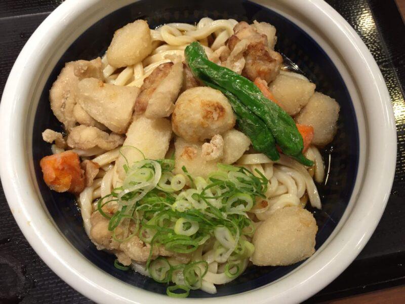 『丸亀製麺』夜なきうどんで半額!ごろごろ野菜の揚げだしうどん!