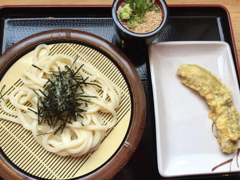 岡山うどん店『かばくろ製麺ちゃちゃぶー』青バナナの天ぷらとうどん!