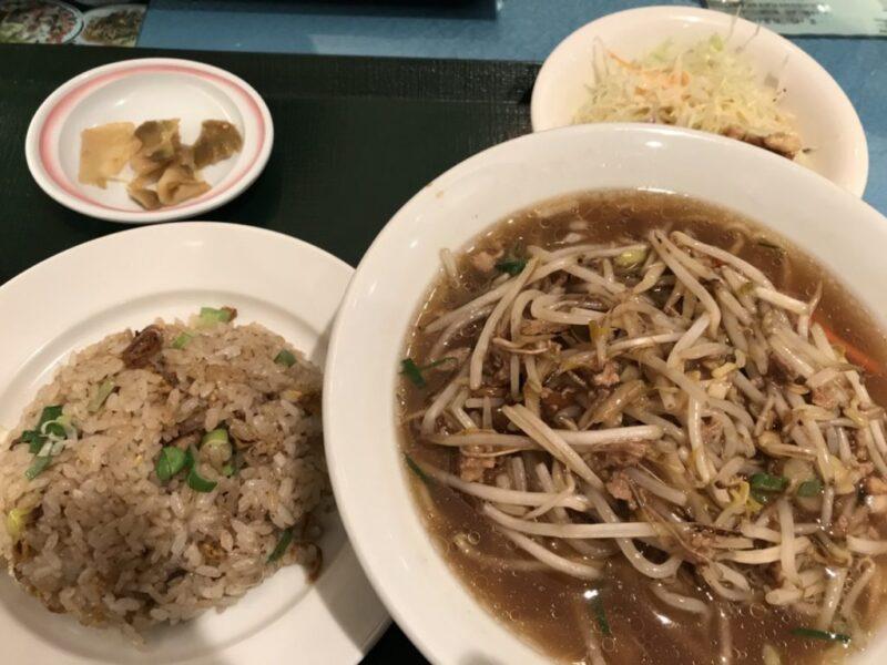 倉敷天満屋中華料理『又来軒(ゆうらいけん)』炒飯ともやしラーメンランチ!