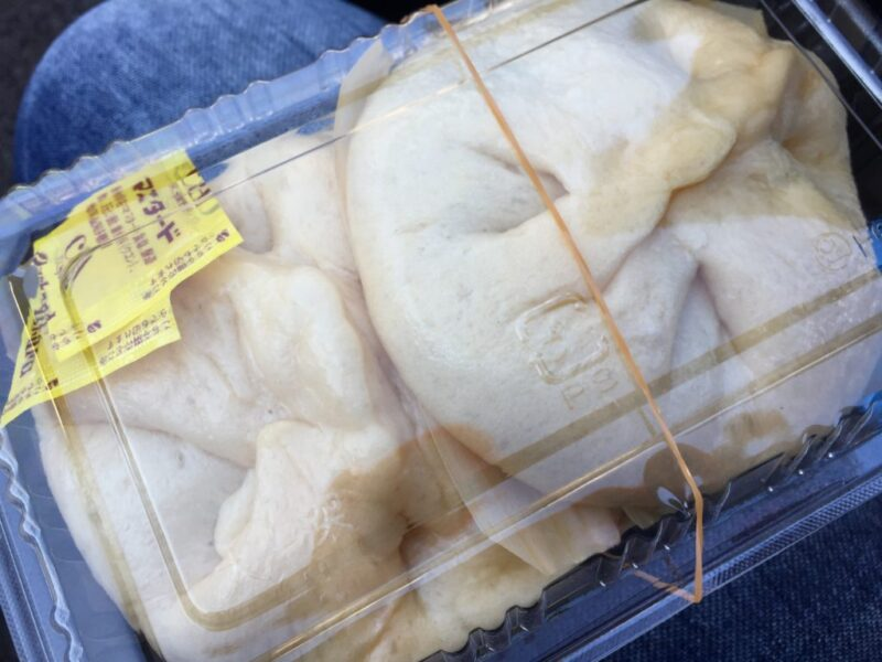 岡山倉敷朝市『ケイコの手作り豚まん』豚まんとピザまんが美味しい!