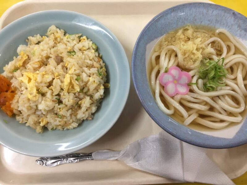 岡山西島田町『JR貨物食堂』一般人もOKの社員食堂でうどんと炒飯定食!