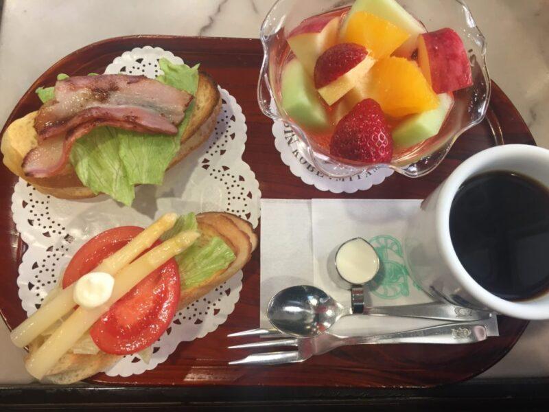 神戸三宮喫茶店『にしむら珈琲店』フルーツポンチの朝食モーニング!