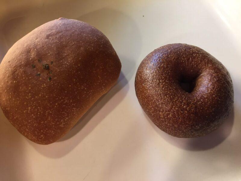 倉敷西坂『パンののはらおはようナーム』オーガニックなチョコベーグル!