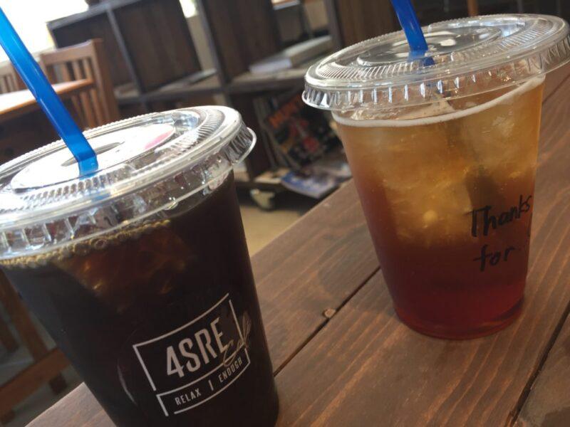 倉敷西中新田『4SRE CAFE(フォスレカフェ)』お洒落ランチとアイスコーヒー!
