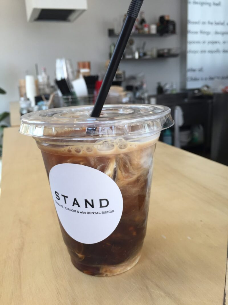 岡山野田屋町『STAND1-1(スタンドワン)』デザイン事務所のカフェでコーヒー!