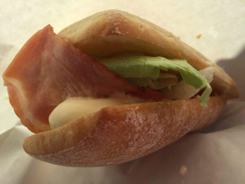 岡山藤田パン屋『ベーカリー万喜(マキ)』ベーコンレタスサンドイッチ!