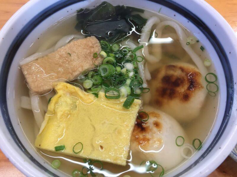 香川観音寺うどん屋『かなくま餅福田』あん雑煮うどんと赤飯おにぎり!