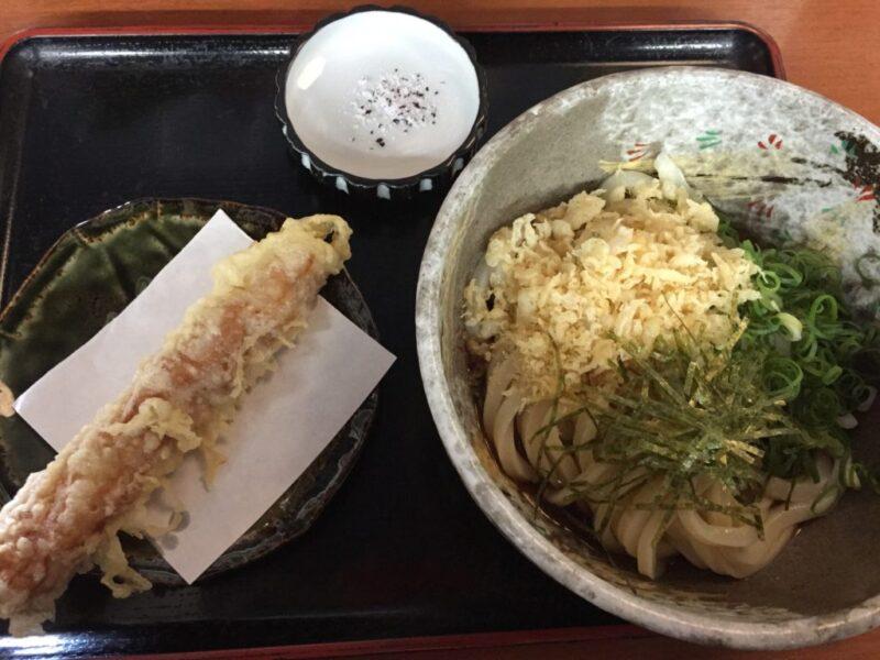 倉敷浜町『讃岐うどん明月』揚げたてサクサク天ぷらとぶっかけうどん!