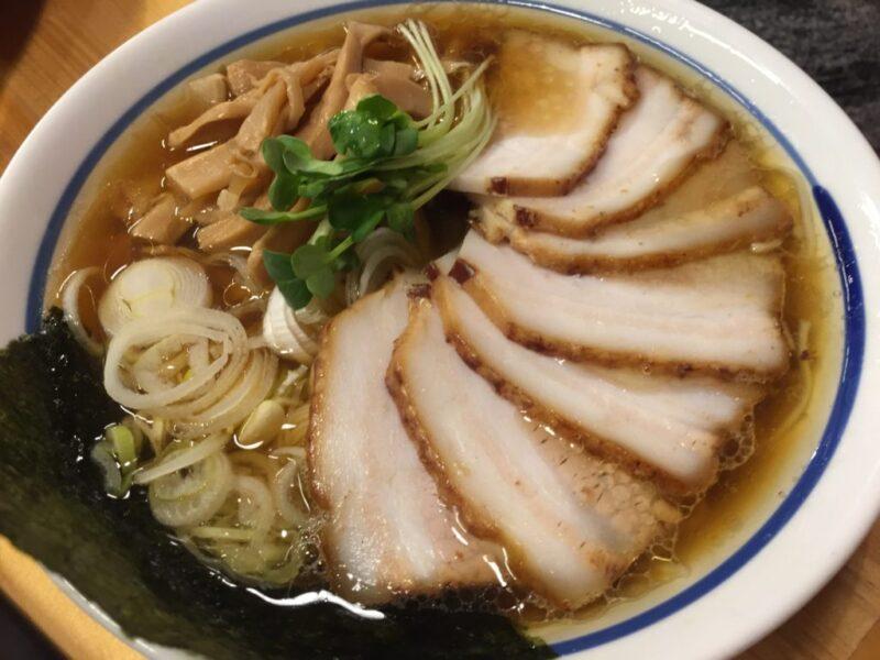 倉敷玉島ラーメン屋『中華蕎麦みず川』澄んだスープのチャーシュー麺!