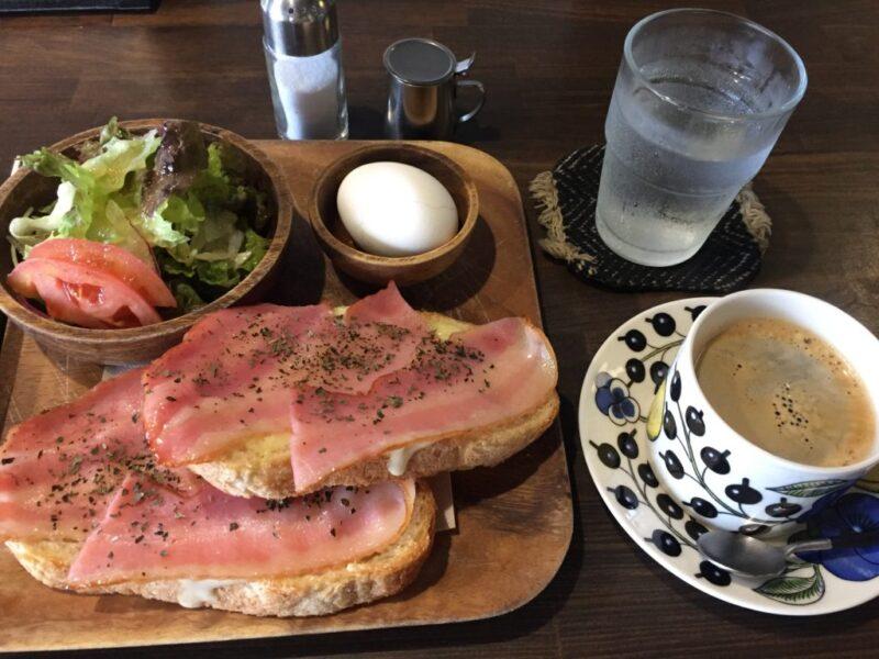 岡山野田屋町『カフェフランス長屋(ナガヤ)』クロックムッシュモーニング!
