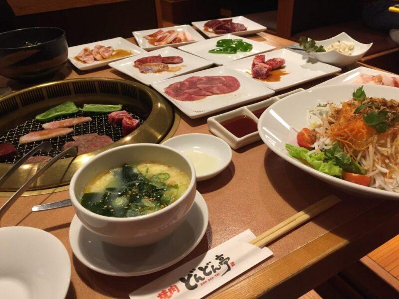 岡山倉敷『焼肉どんどん亭』食べ放題オーダーバイキングで稲庭うどん!