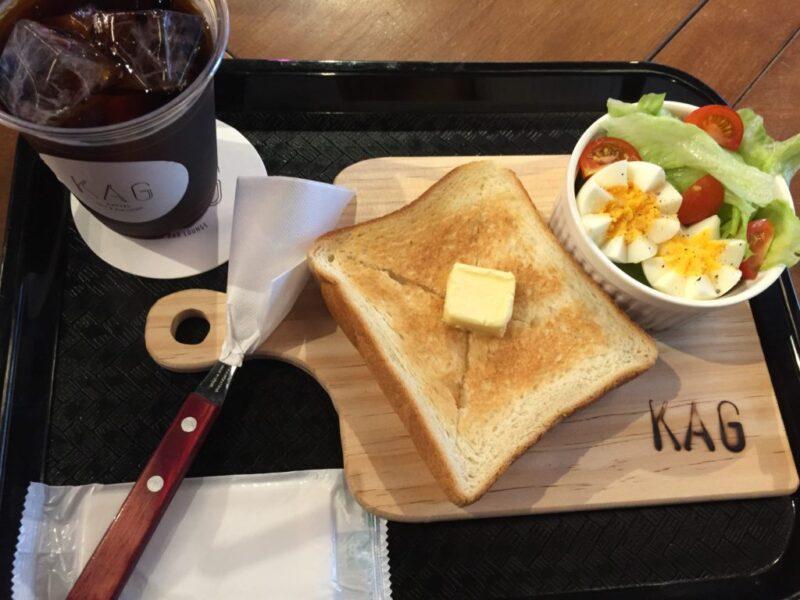 倉敷阿知『ホステル&カフェバーKAG』朝食モーニングとハンバーガー!