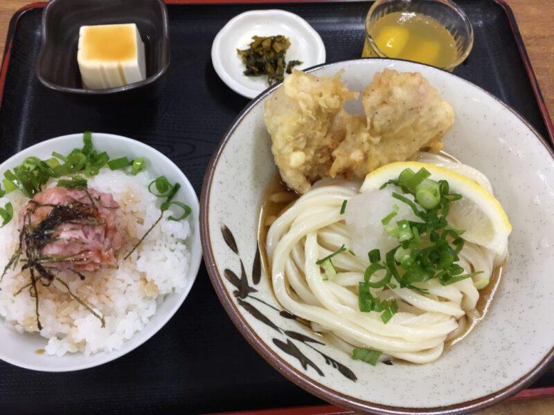 香川丸亀『麦香』限定15食のお得なネギトロ定食ランチと釜玉うどん!