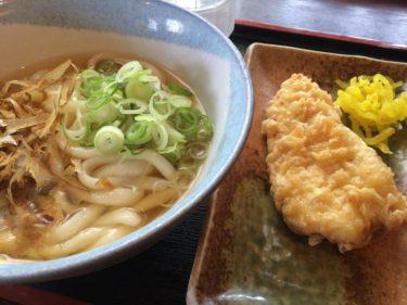 岡山野殿西町『セルフうどんまんてん』王道のかけうどんと鶏の天ぷら!