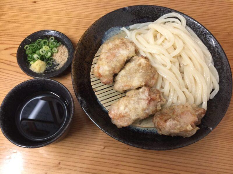 香川高松『讃岐うどんえん家』かしわ天ざるうどんとあさりうどん!