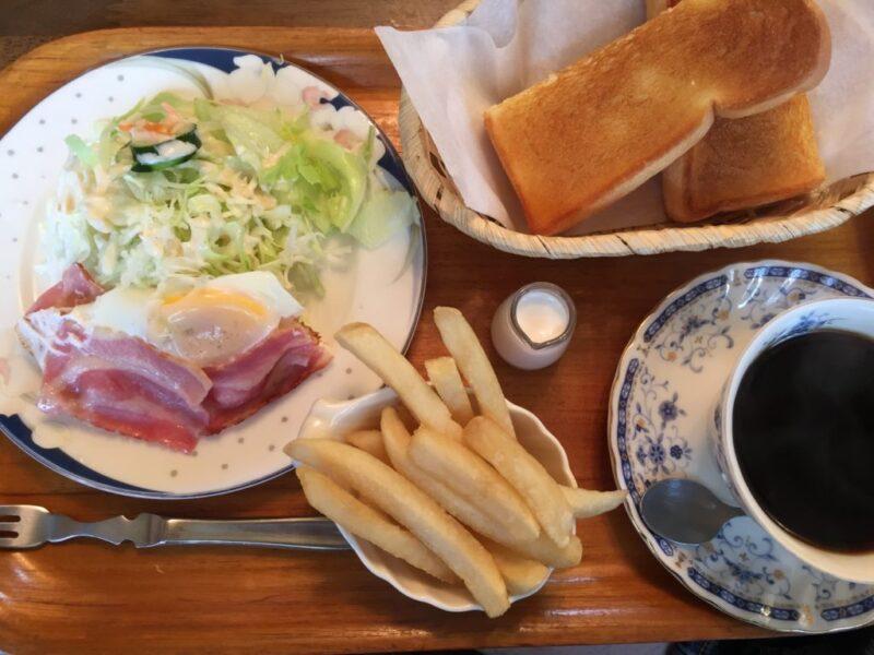 岡山中撫川喫茶店『アーリーバード』フライドポテト朝食モーニング!