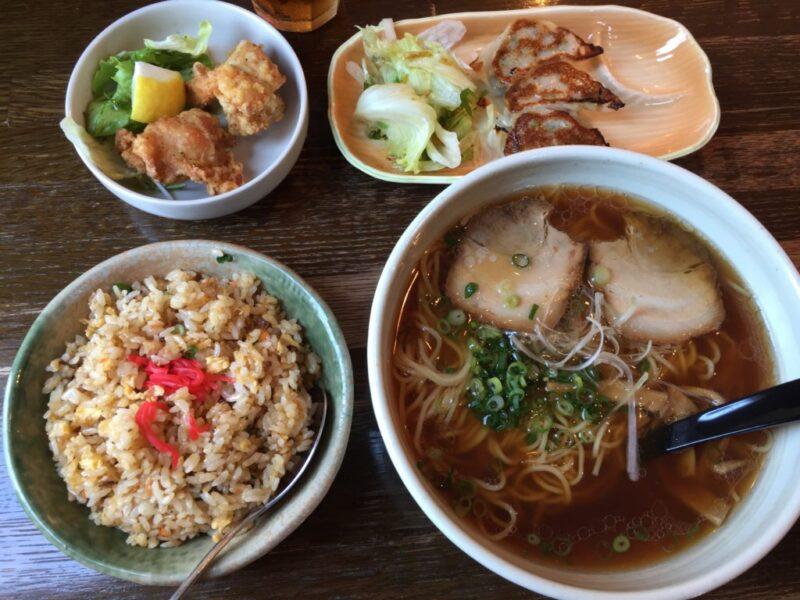 倉敷八軒屋『ラーメンSaika彩華』餃子と鶏の唐揚げとチャーハンランチ!