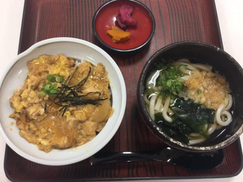 倉敷天満屋『しらかべ茶屋』矢掛小田すしのうどんと親子丼セット!