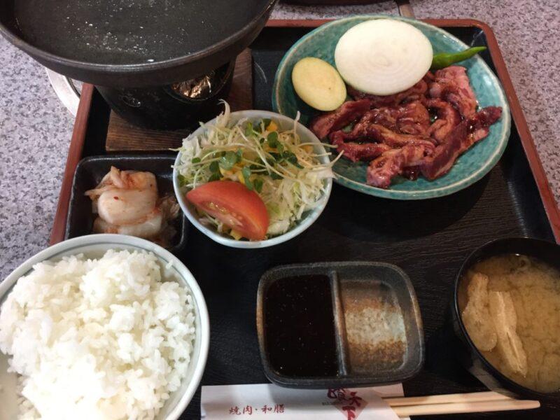 倉敷笹沖『焼肉和膳喰天下(くうてんか)』トンカツ定食と焼肉カルビランチ!