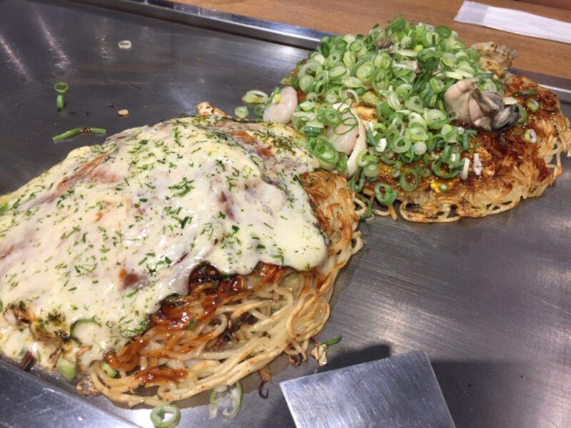 アウトレット広島『鉄ぱん屋弁兵衛』牡蠣とチーズの広島風お好み焼きランチ!