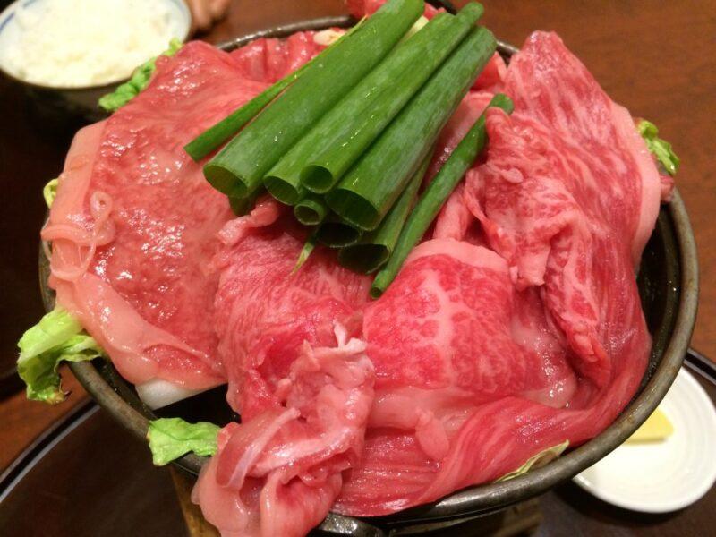 大阪割烹『北新地はな柳』限定15食国産黒毛和牛すき焼きとうどんランチ!