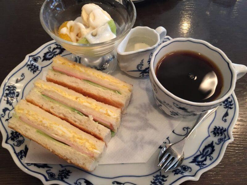 広島三川町喫茶店『フルフル』新鮮フルーツとサンドイッチモーニング!