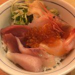 岡山駅前『横濱魚萬&目利きの銀次』居酒屋の定食ランチと海鮮丼!