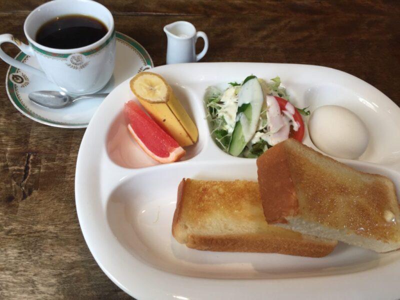 倉敷老松カフェ『山城軽食喫茶』パン&ケーキで朝食モーニングセット!