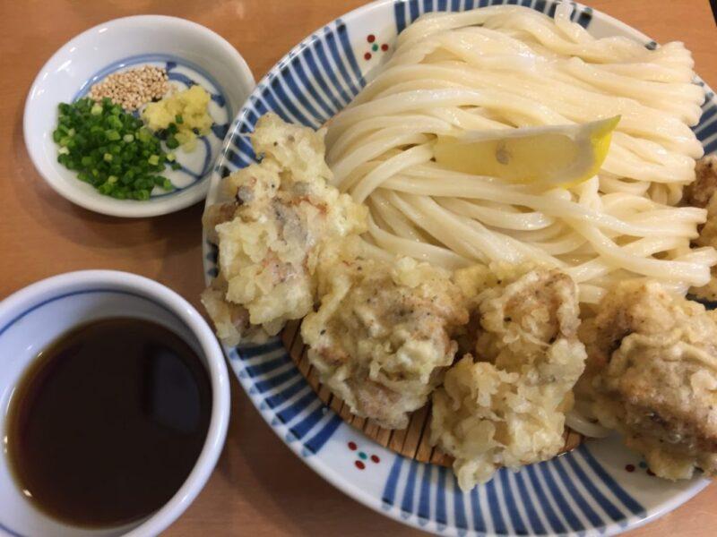 香川高松『手打ちうどん風月』大行列のかしわ天ざるとぶっかけうどん!