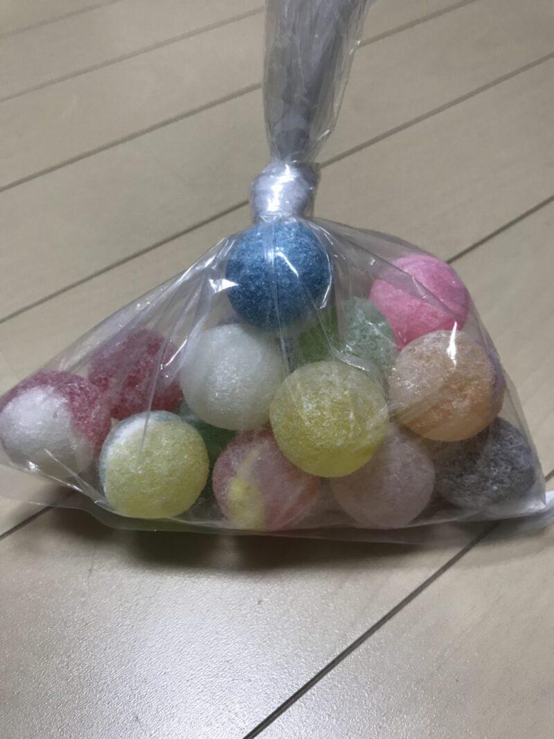 アリオ倉敷『思い出横丁』期間限定でゲリラ出店の駄菓子屋でどんぐりあめ!