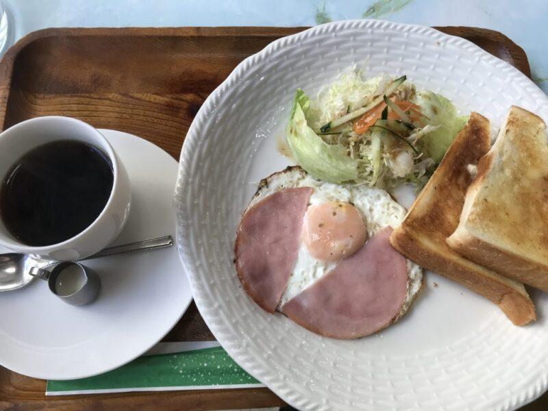 岡山本町『喫茶in(イン)』スペシャリティコーヒーとハムエッグ朝食モーニング