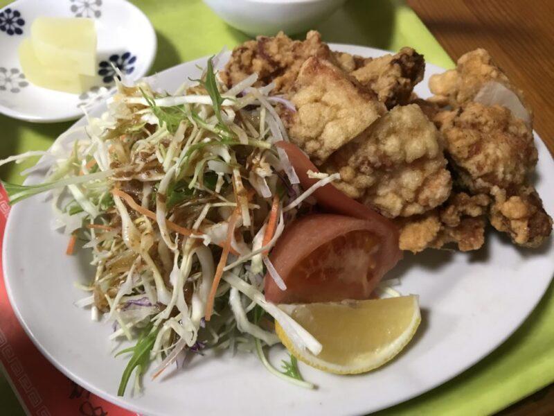 岡山問屋町『中華料理白龍』海老焼き飯と鶏のから揚げ定食ランチ