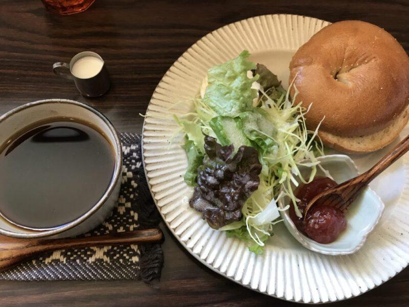 岡山市『南方カフェ(まみぱんストア移転)』自家製ベーグルモーニング!