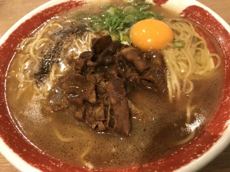 イオン岡山『徳島ラーメン東大』ランチセットは白ご飯と生卵でTKG!