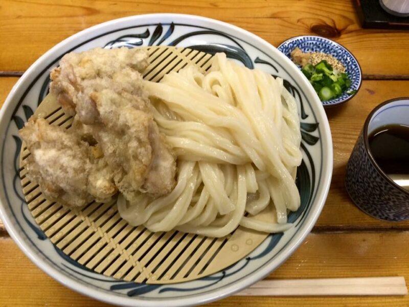 香川高松『麦蔵』肉汁ブシャー宮崎産地鶏のかしわ天ぶっかけうどん!