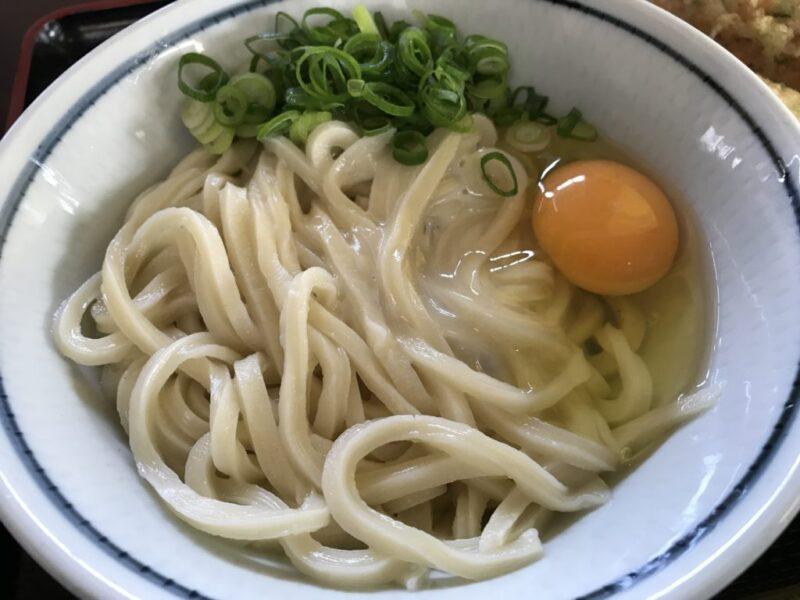 香川高松国分寺『うどん一福』ミシュラン獲得の中村系細麺釜玉うどん!